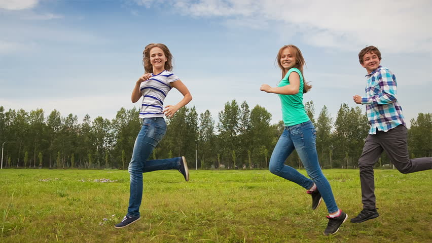 Young People, Happy Friends And Ball Sport, Kids And -3153