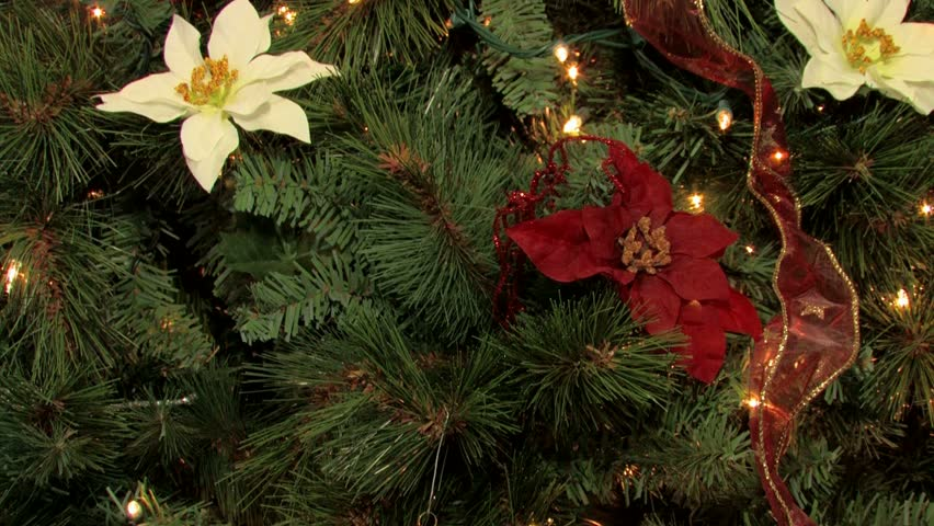 christmas tree decorated with lights stock footage video 100 royalty free 621232 shutterstock - How To Decorate A Christmas Tree With Ribbon Video