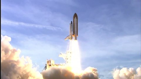 CIRCA 2010s - The Space Shuttle Atlantis launches.