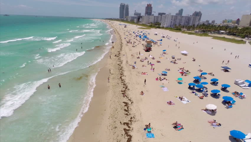 Aerial video of Miami Beach and South Beach | Shutterstock HD Video #6239153