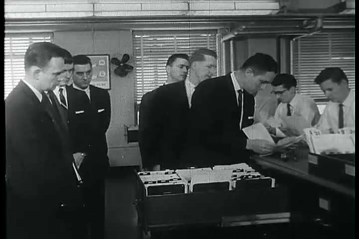 CIRCA 1950s - FBI Agents are trained at FBI Headquarters in Washington D.C.