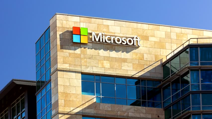 SANTA CLARA,CA/USA - FEBRUARY 1, 2014:  Microsoft corporate building in Santa Clara, California.  Microsoft is a multinational corporation that develops, supports and sells software and services.