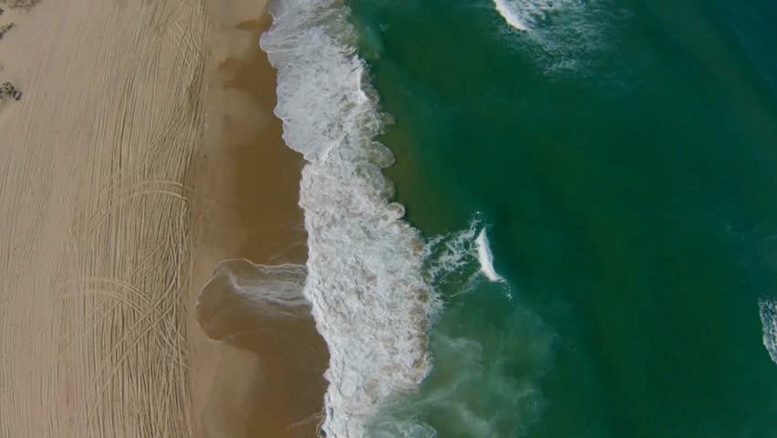 Aerial view of Mediterranean Sea beach, Israel. top view | Shutterstock HD Video #6309197
