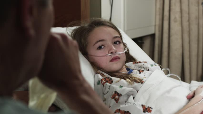 Image result for in hospital bed girl