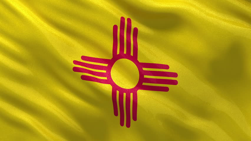 New Mexico State Flag Footage Stock Clips