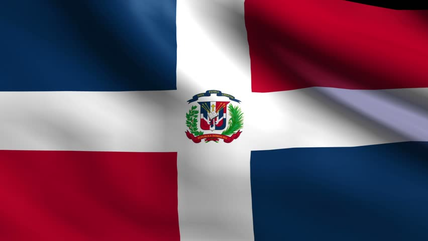 flag of dominican republic background seamless loop animation