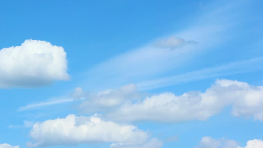 Formation of Cumulonimbus clouds. Several different cloud types moving in a different direction  #6398507