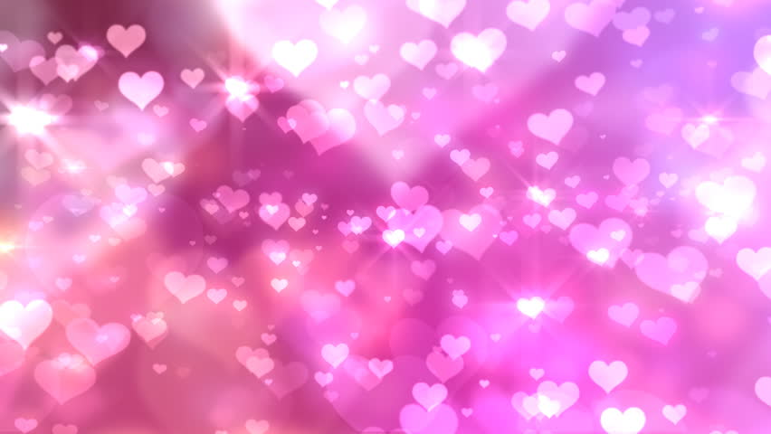 Animated HD Motion Background Video Loop - Pink Big Hearts ...