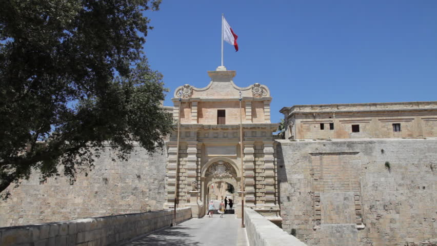 City Gate in Mdina - Former Capital City of Malta (Europe)