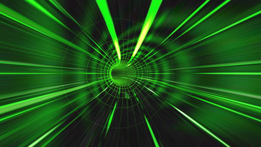 Abstract green tunnel background