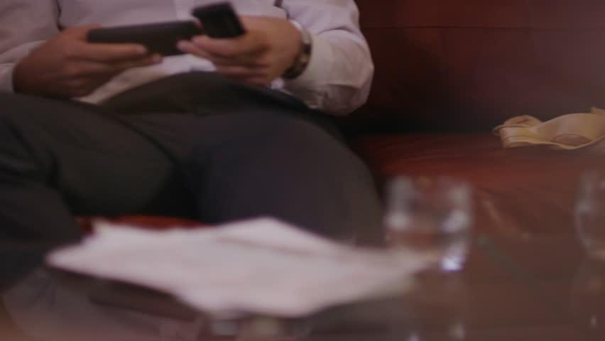 Man relaxing and watching TV | Shutterstock HD Video #6489377