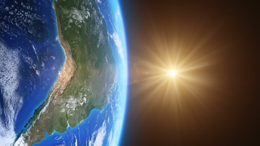 Beautiful Sunrise Over Brazil Seen From Space More