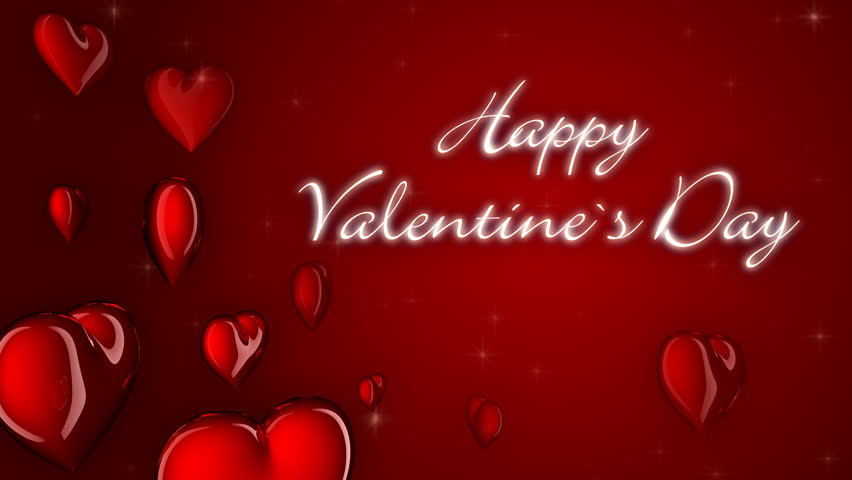 valentine card heart symbols and text loop hd stock video clip - Valentines Day Videos