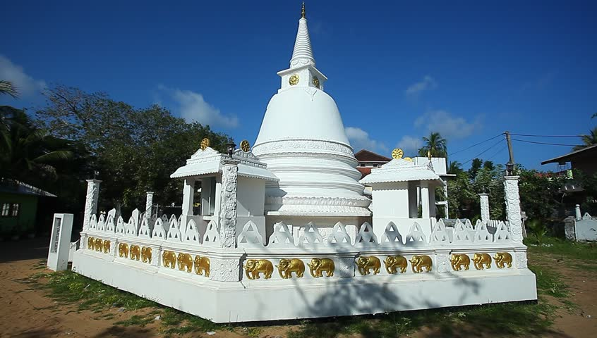 Buddhist Symbol Of The Universe The White Dome With A Spire Stock