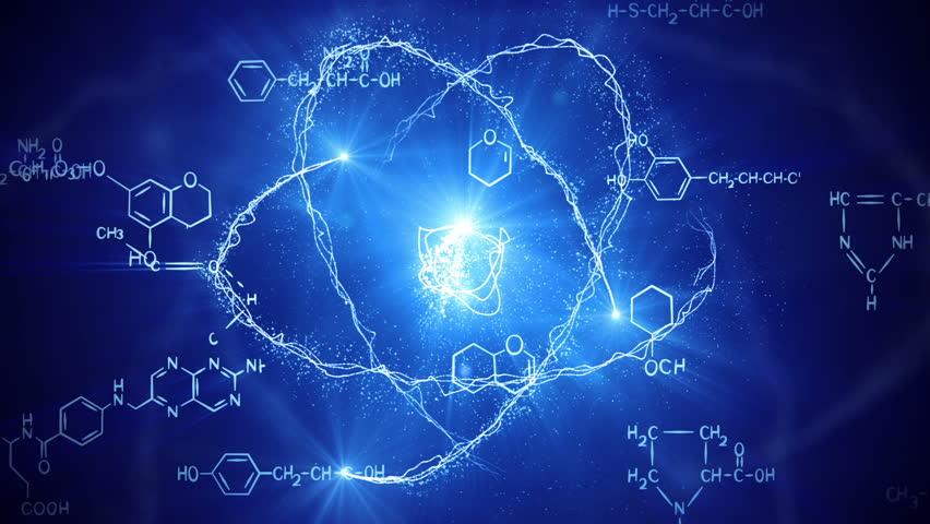 Atom Model. Loop Science Formula Background Stock Footage