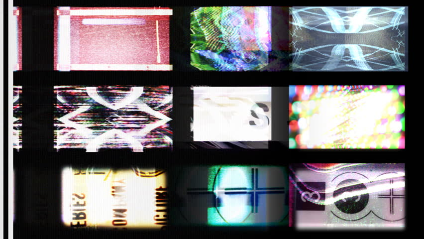 digital animation of hd screens showing static distortion and countdowns, all content self created