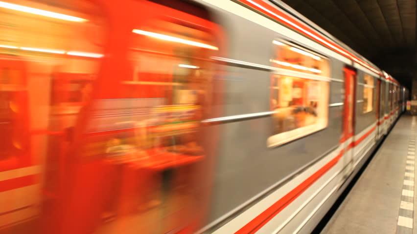 Prague Czech Republic Subway Train Station Underground Transportation   Shutterstock HD Video #6672737