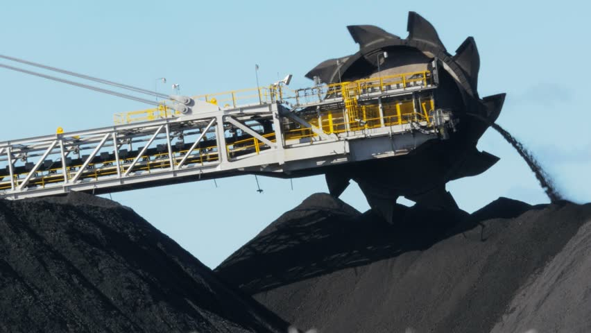 close up of a huge coal loading conveyor belt at Newcastle, NSW, Australia