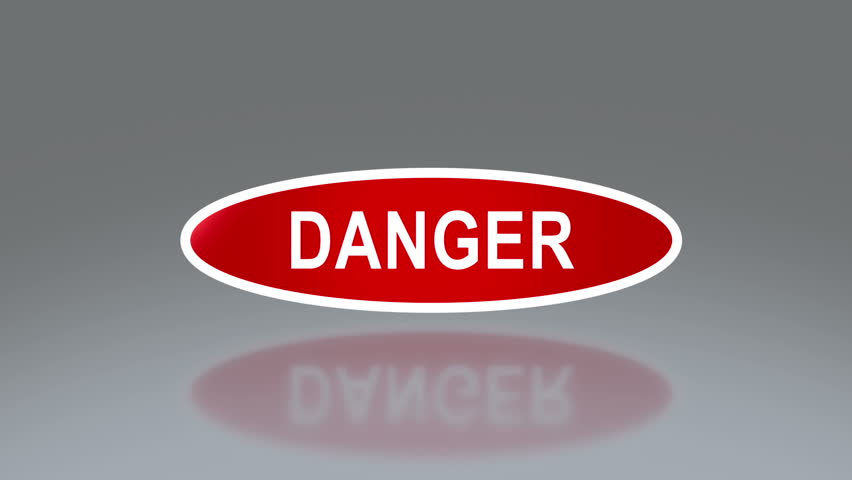 oval signage of danger  the notice of traffic sign for transportation safety | Shutterstock HD Video #6747007