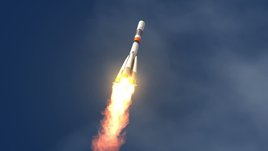 Cargo Carrier Rocket Launch. 3D Animation. | Shutterstock HD Video #6764887