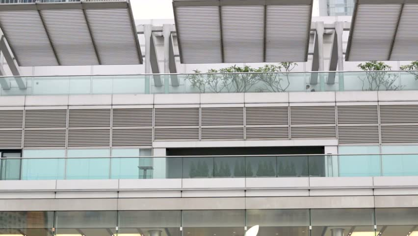 HONG KONG, CHINA - CIRCA JUNE 2014: Apple Store in the city center. The first Apple Store in Hong Kong, being the 100th overseas store outside the USA opened on September 24, 2011. | Shutterstock HD Video #6768517