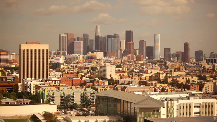 Skyline of Los Angeles on a sunny afternoon. | Shutterstock HD Video #6795307