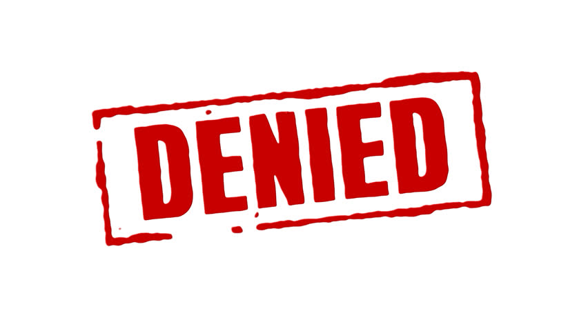 Denied >> Hd00 06red Rubber Stamp Animation Of The Word Denied With White
