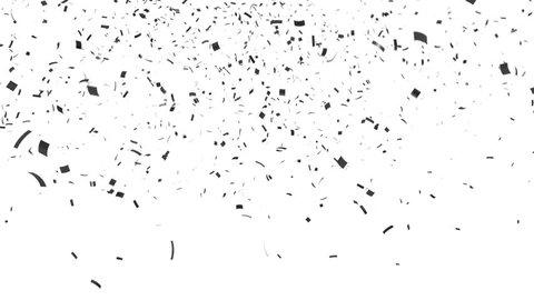 Black Confetti Explotion With Alpha Matte