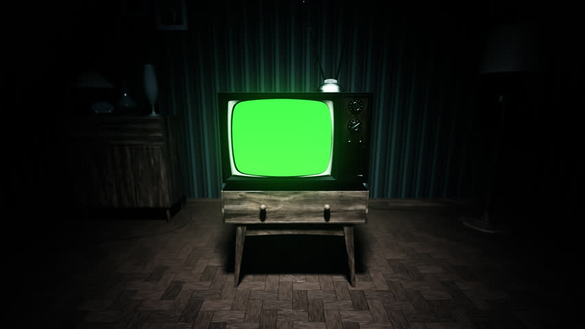 Old Fashioned Living Room Tv Set