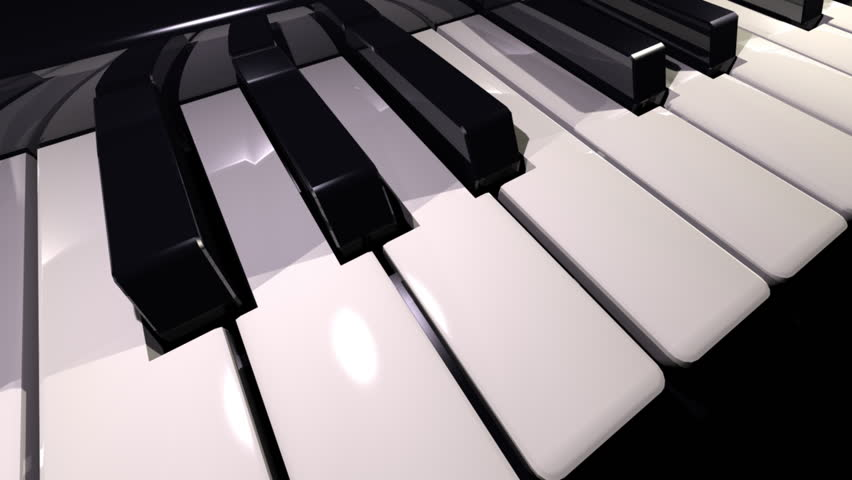 video showing a piano keyboard
