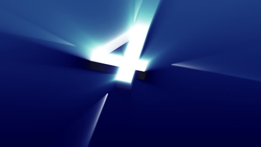 Shinny blue countdown going up like an elevator
