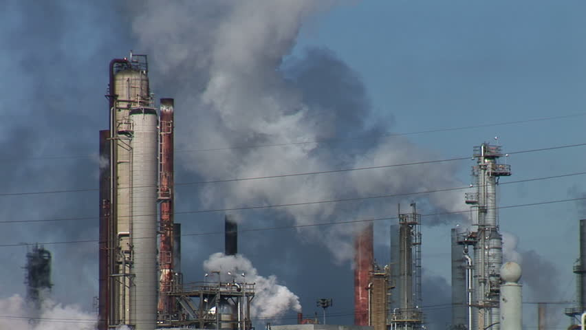 Refinery Smokestacks