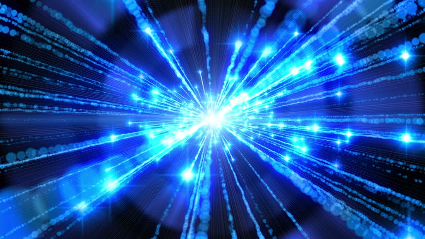 blue time travel looping animated background stock footage