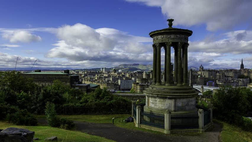 Timelapse of Edinburgh Skyline Taken From Calton Hill