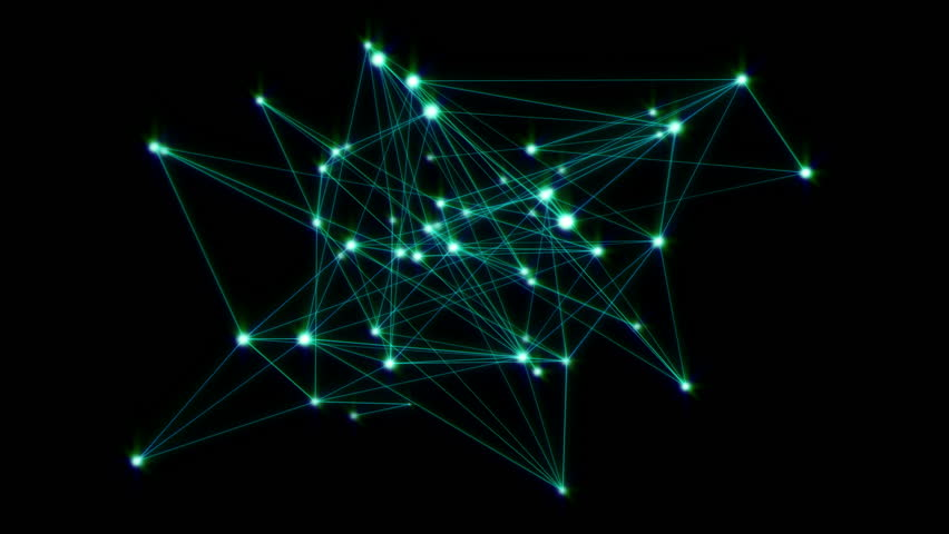 Animation of a growing network of connected lines and dots. Abstract communications, technology, computer networks, internet, social media, business growth concepts etc. In 4K ultra HD. | Shutterstock HD Video #6965227
