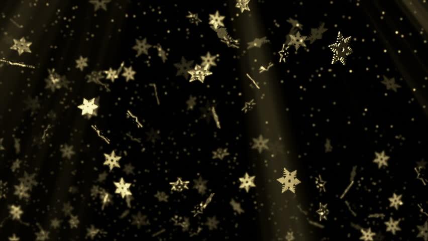 Golden stars seamless background   Shutterstock HD Video #7027267