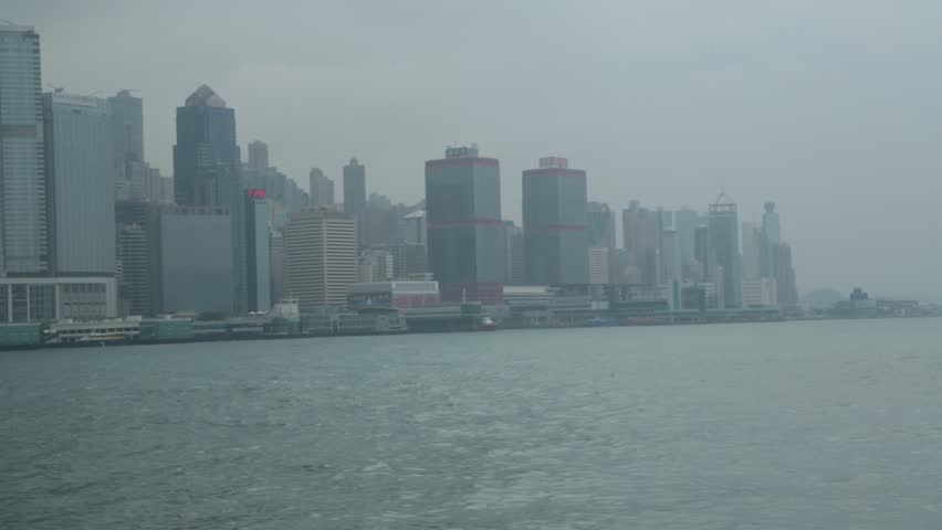 Beautiful Hong Kong Skyline from Victoria Harbour | Shutterstock HD Video #7059967