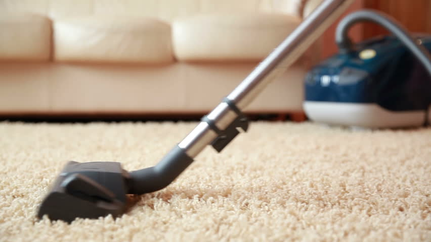 Vacuum Cleaner Cleaning The Carpet Dolly Shot Stock Footage Video 7078657