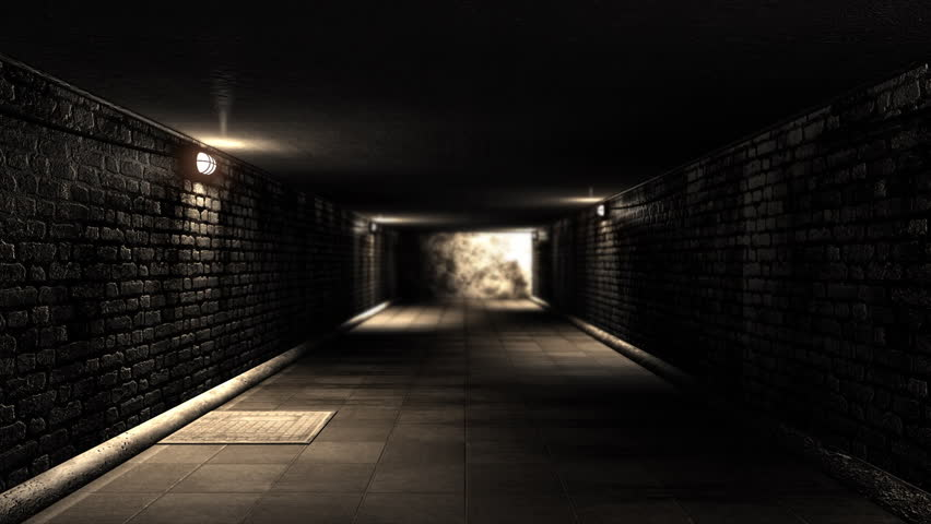 Scary Alley Corridor At Night Stock Footage Video 5473148