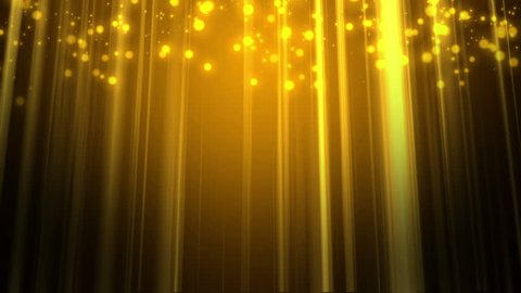 High Definition CGI motion backgrounds ideal for editing, led backdrops or broadcasting featuring golden lights and particles.