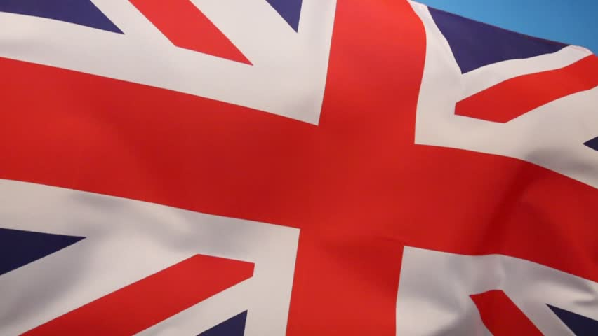 The flag of the United Kingdom of Great Britain and Northern Ireland. (The Union Flag) | Shutterstock HD Video #7166530