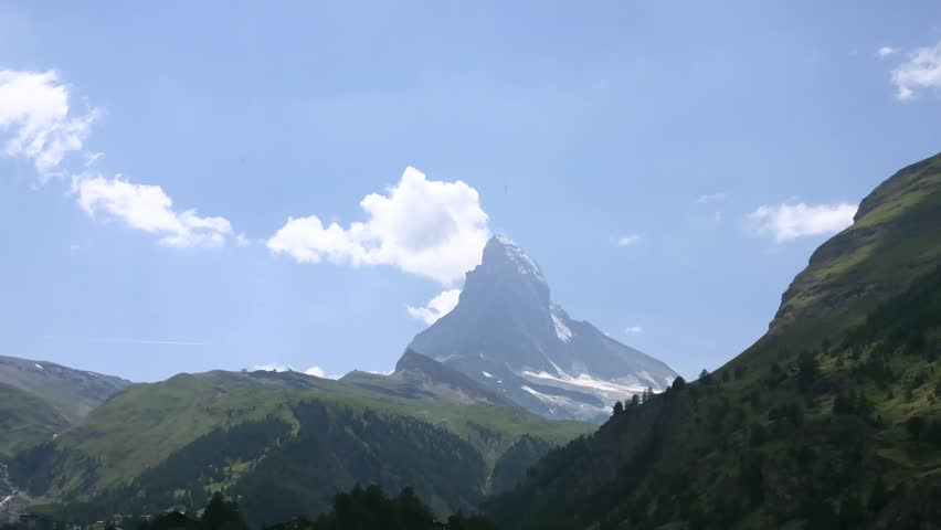 Time Lapse Movie Matterhorn, Zermatt, Switzerland