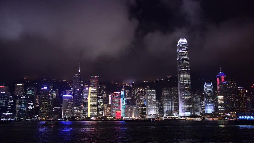 Hong Kong, China city skyline.   Shutterstock HD Video #7191544