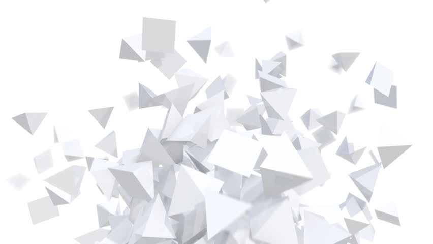 Modern background of white geometric objects in abstract motion - seamless (FULL HD) | Shutterstock HD Video #7215547