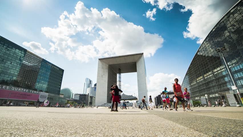 Arche de la Défense, Paris, Time-lapse | Shutterstock HD Video #7216855