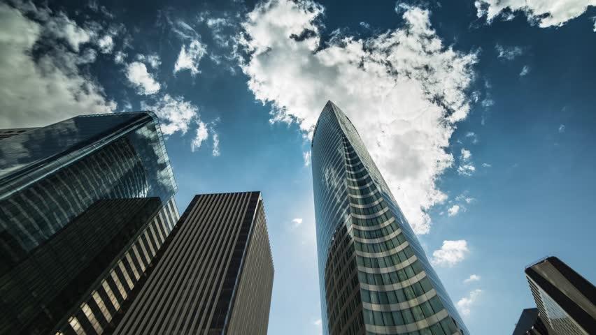 La défense, Paris, business économy, building, cloud, time-lapse | Shutterstock HD Video #7216987