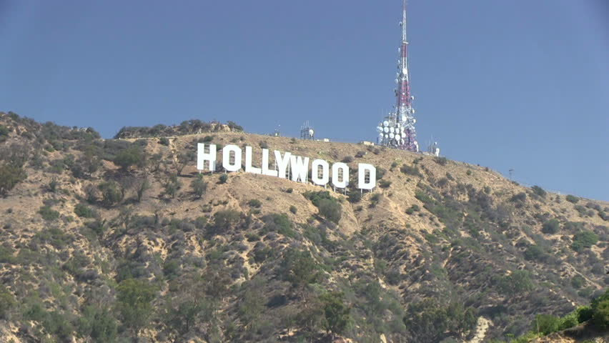 LOS ANGELES, CALIFORNIA – AUGUST 26 2014: The ionic Hollywood sign | Shutterstock HD Video #7227367