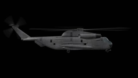 Ch-53 Helicopter Hovering