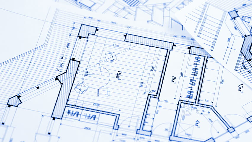 Architecture house plan background blueprint animation writing on pliers and architectural plan of the modern house hd stock footage clip malvernweather Images