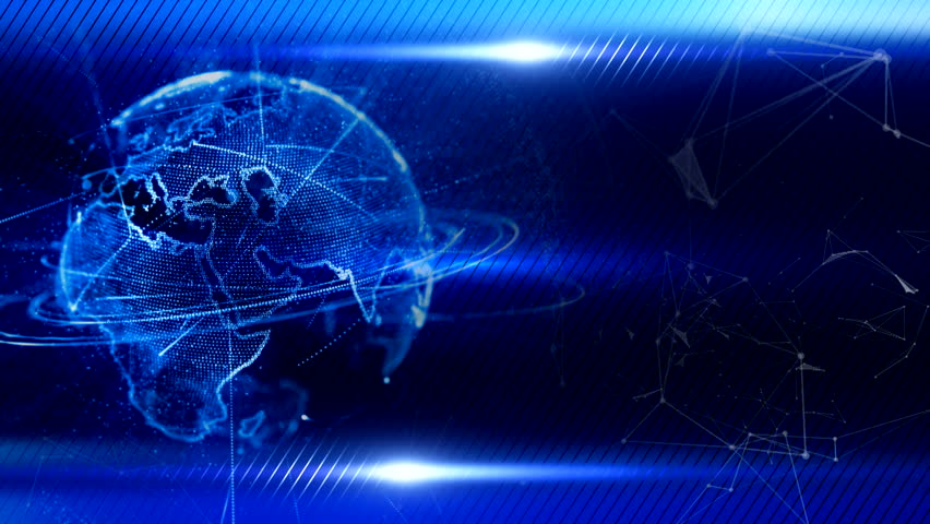 Bright blue technology background with world map series 3 bright blue technology background with world map series 3 version from 1 to 12 stock footage video 7263847 shutterstock sciox Image collections